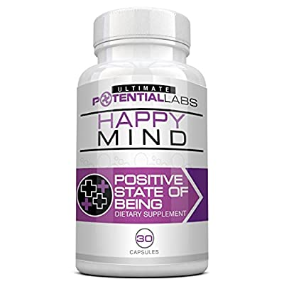 Happy Mind - Natural Herbal Anti Anxiety Supplement for Daily Stress Relief and Elimination of Panic Attacks * Elevate and Enhance Mood without Harmful Side Effects