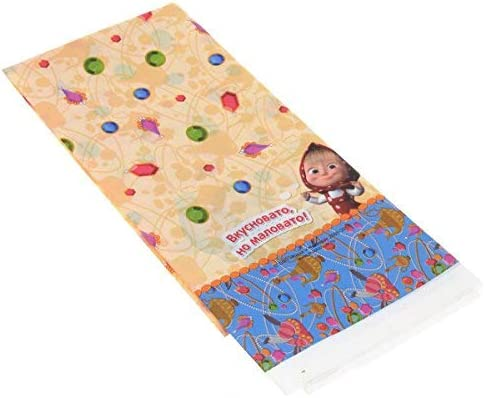 Tablecloth Mashas fairy tale for Childrens Birthday Party with Favorite Characters Masha and the Bear SG/_B01BTTQ2ZC/_US