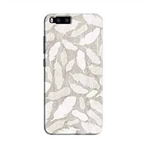 Cover It Up - Feather Grey Print Mi6 Hard Case