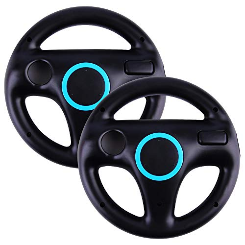 Top Souls Mario Kart Racing Wheel for Nintendo Wii - 2 Pack Original Black