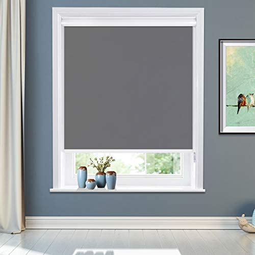 MiLin Blackout Roller Shades No Tools Window Blinds and Shade