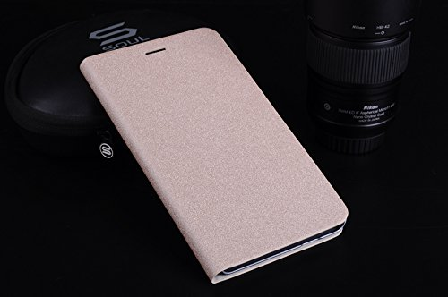 Neway 2 in 1 Bundle for HUAWEI Honor Mediapad X1 7inch High Quality Genuine Leather Flip Protective Bumper Case Wallet Cover Shell(With business card holder design)with HD Screen Protector,Beach-Golden