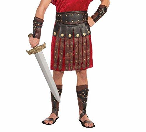 [Roman Caesar Apron Belt Brown Armor Greek Spartan Adult Costume Accessory] (Leather Apron Costume)