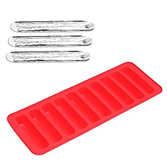 new 10 Lattice Ice Tray Strip Cube Stick Chocolate Cookie Biscuit Silicone Mold