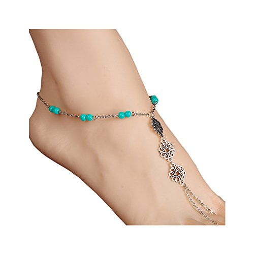 Boosic Bohemia Compressed Turquoise Anklet Bracelet