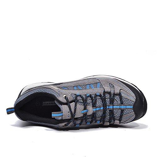Buque en desierto hombres senderismo zapatos impermeable (azul gris, eur40)