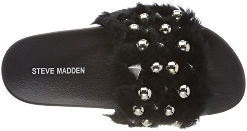 Steve Madden Damen Yeah Slide Niedrige Hausschuhe Schwarz (Black)