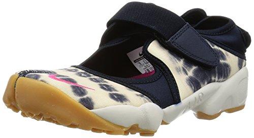 Nike Womens Air Rift Prm Qs Hardloopschoenen 848502 Sneakers Schoenen Dark Obsidian Levendig Roze Top Wit 400