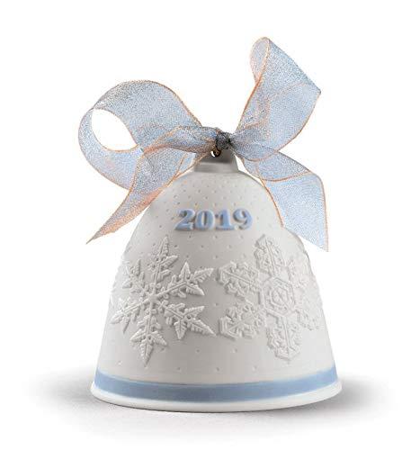 Lladro 2019 Porcelain Blue Christmas Bell #8446
