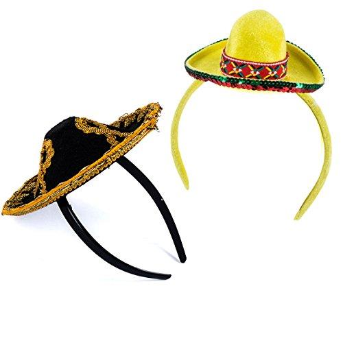 Tigerdoe Taco Costume Hat - Sombrero Headbands - Food Costumes - Costume Party Hat- Cinco De Mayo Hats - Fiesta Party (2 Pack Sombrero Headbands) -