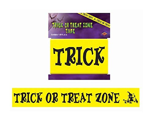 (Bargain World Trick Or Treat Zone Tape (with Sticky)