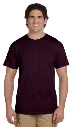 Gildan Men's Ultra Cotton Tee, Dark Chocolate, Large - Brown Mens Shirt