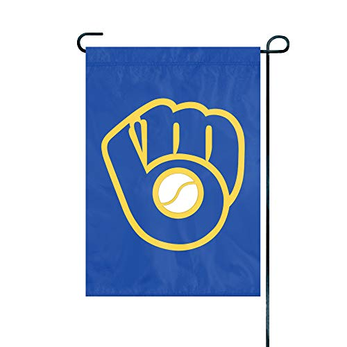 The Party Animal Officially Licensed MLB GMMIL Milwaukee Brewers Premium Garden Flag