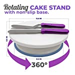 Cake Decorating Supplies Kit, 107 pieces - Cake Stand, Disposable and Reusable Piping Bags, Stainless Steel Piping Tips, Silicone Cupcake Molds, Cake Scrapers, Spatulas and many more baking supplies 11 THE COMPLETE ALL-IN-ONE KIT - The most complete cake decorating set, designed to fulfill all of your baking needs. Perfect for beginners and aspiring CAKE BOSSES!! DECORATING SET INCLUDES: - 48x Small Stainless Steel Piping Tips | 25x Disposable Pastry Piping Bags | 12x Silicone Cupcake Molds (Oven safe, heat resistant up to 450° F) | 5x Large Piping Tips | 3x Cake Side Scrapers | 2x Small Piping Bag Couplers | 2x Icing Spatulas | 2x Flower Nails | 2x Silicone Piping Bags (12in & 16in) | 1x Rotating Cake Stand with a non-slip base | 1x Cake Leveler | 1x Flower Lifter Scissors | 1x Decorating Pen | 1x Large Piping Bag Coupler and 1x Cleaning Bru PREMIUM QUALITY YOU CAN TRUST  - We know safeguarding your family's health is your #1 priority. This is why we strive to use only high quality, non-toxic materials. All 53 piping tips are made of premium non-corroding stainless steel that is dishwasher safe and both our piping bags and cupcake molds are made out of BPA Free and Food Grade Silicone meeting U.S. FDA and European LFGB food safety standards.
