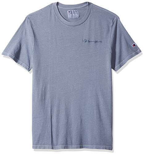 (Champion Men's Vintage Dye Short Sleeve Tee, Dusted Blue, X-Large )