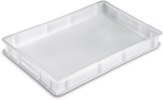Giganplast Caja portaimpasto Pan Pizza Mod.Service cm.60 x 40 x 7 Blanca: Amazon.es: Hogar