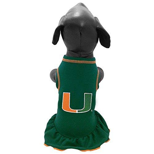 All Star Dogs NCAA Miami Hurricanes Cheerleader Dog Dress, X-Large - Ncaa Cheerleader Uniforms