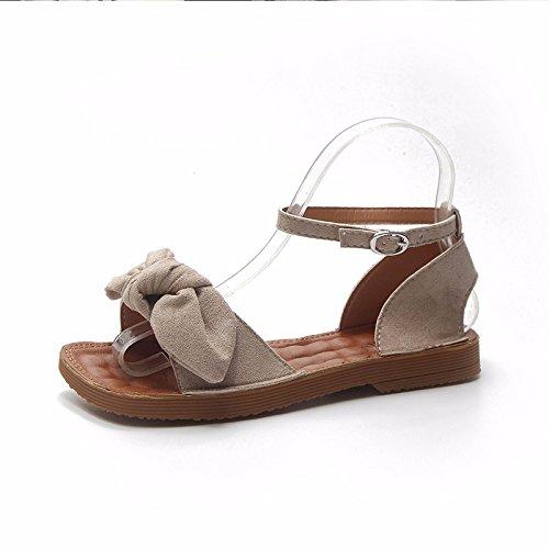 Il calzature fondo nuova piatto donna sandali XIAOGEGE estate beige con PqwAcB87nZ
