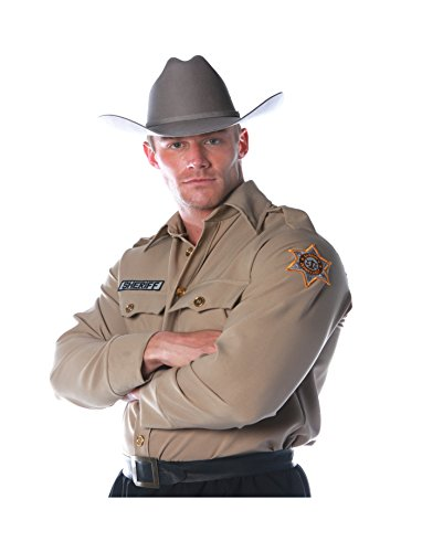 Underwraps Costumes Men's Sheriff Costume - Shirt, Tan, X-Large]()