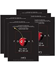 MCS Format Frame, 8 by 10-Inch, Black, Pack of 6