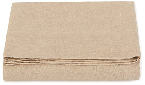 LinenMe Stone Washed Bed Linen Top Sheet, 66 by 102-Inch, Natural 41nRMmyAiAL