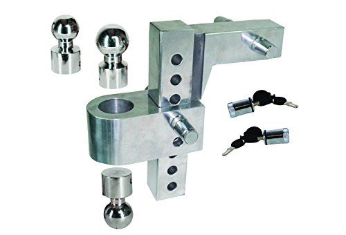 Best Review Of Uriah Products UT625810 Silver 12.6 x 12 x 3.9 Aluma-Tow HD 8″ Drop Ball Mount for 2-1/2″ Receiver