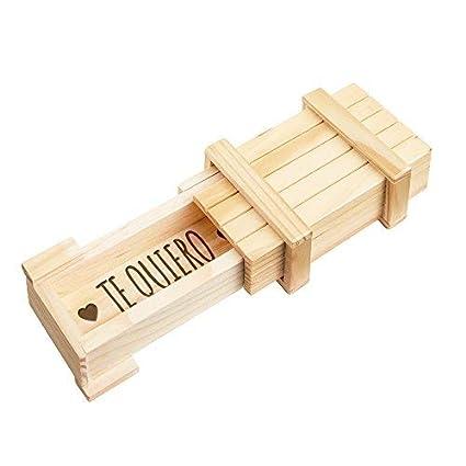 Casa Vivente – Caja Regalo Mágica – con Mecanismo de Cierre Secreto – Te Quiero –