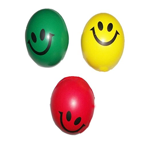YIWULA 1 PC Mini Neon Smile Face Relaxable Balls