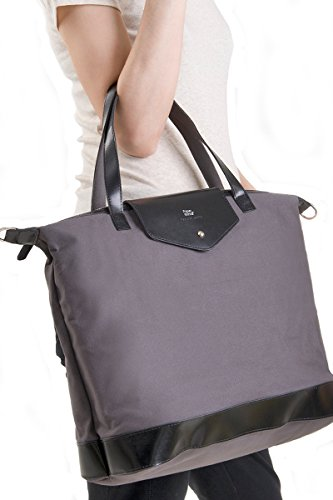 Recycled Bag Charcoal Grey Envelope Paperthinks Canvas Leather Tfaaqw