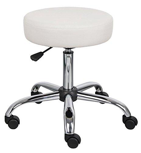 - Ergonomic Adjustable Caressoft Medical Salon Facial Massage Spa Swivel Rolling Stool, White