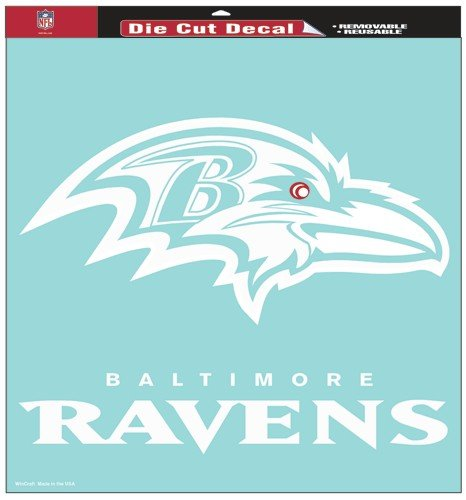 - NFL Baltimore Ravens 18-by-18-Inch Diecut  Decal