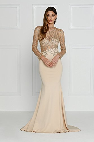 e3c87d2b8e Missord Women s O Neck Long Sleeve Bodycon Maxi Dress for Prom X-Small Khaki