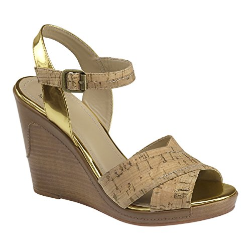 Women Natural amp; Maren Murphy Cork Wedge Johnston Sandal qTaEY7