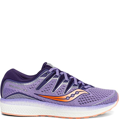 Saucony Women's Triumph ISO 5 Running Shoe Purple/Peach 8.5 M US