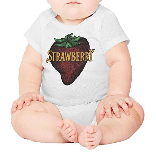 Baby Onesies Funny Clipart Strawberry Fresh Fruit 100% Cotton Bodysuits Super Power Short Sleeve Bodysuit