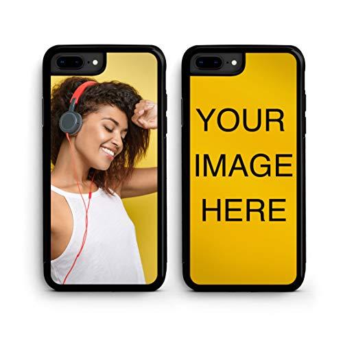 Custom iPhone 7 Plus Cases iPhone Cover iZERCASE [Personalized Custom Picture CASE] Make Your Own Phone Case (Black, iPhone 7 Plus)