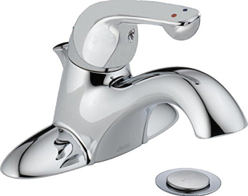 Delta Commercial 520LF-HDF Classic Single Handle Centerset Bathroom Faucet, Chrome ()