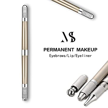 cac091483 Amazon.com: Mis Toujours Manual Eyebrow Tattoo Machine 3d Pen For Permanent  Makeup Tebori Tattoo For Lip Eyeliner Microblading Eyebrows Champagne:  Beauty