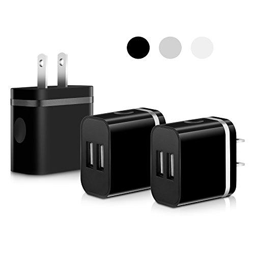 SEGMOI Charger Adapter Samsung 3Pack Black
