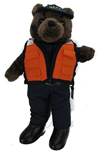 Military Stuffed Plush Teddy Bear in U.S. Coast Guard Uniform