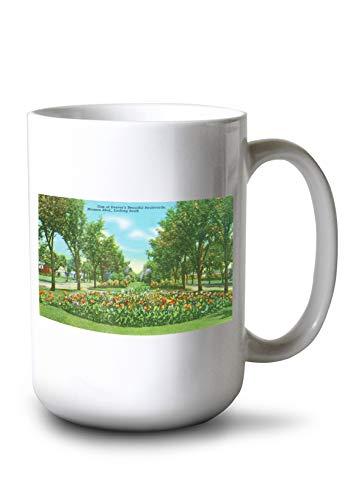 (Lantern Press Denver, Colorado - Southern View dwn Median on Monaco Boulevard (15oz White Ceramic Mug))