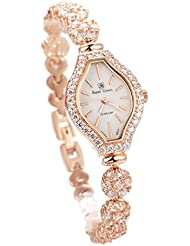 Royal Crown Rg3815b21 Japan Quartz Womens Fashion Wrist Watches Gold Jewelry Bracelet Strap