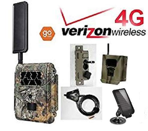 Cam Package (Spartan Verizon 4G LTE GoCam Deluxe Package 720P Wireless Trail Camera Blackout IR (Camera, Lock Box, Cable, Swivel Mount, Solar Panel))