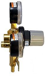 Taprite Double Gauge Beer Regulator Primary Keg New Brass - E-T742