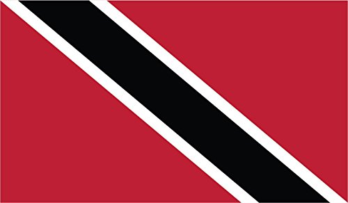 2-Pack Trinidad Flag Decal Sticker | 5-Inches By 3-Inches | Premium Quality Vinyl | PD553 ()