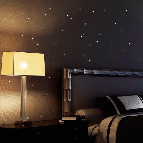 Wandtattoo Loft Leuchtaufkleber 50 Stück nachleuchtende Punkte , selbstklebende Leuchtpunkte aus fluoreszierender Folie für einen Sternenhimmel im Kinderzimmer oder Schlafzimmer