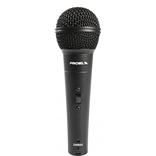 PROEL DM800 dynamic cardioid microphone karaoke singing voice with 5 meter cable by PROEL