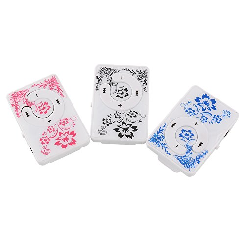 SHUNYUS Fashoin Mini Clip MP3 Media Player with Card 1-8GB Blue and White Porcelain