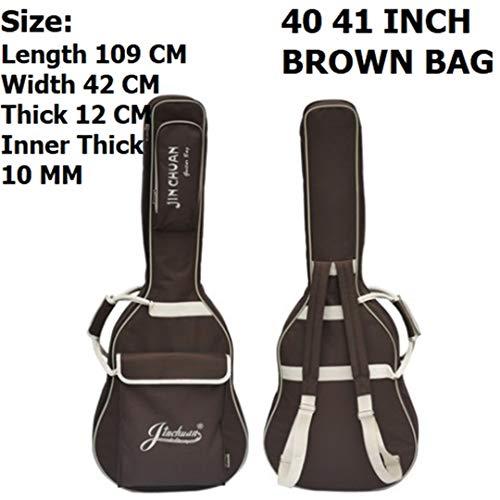 41Inch Acoustic Guitar Bag Waterproof 36Inch Travel Guitar Case 40Inch Folk Guitar Bag Brown 41 Inch