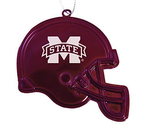 - Mississippi State University - Chirstmas Holiday Football Helmet Ornament - Burgundy